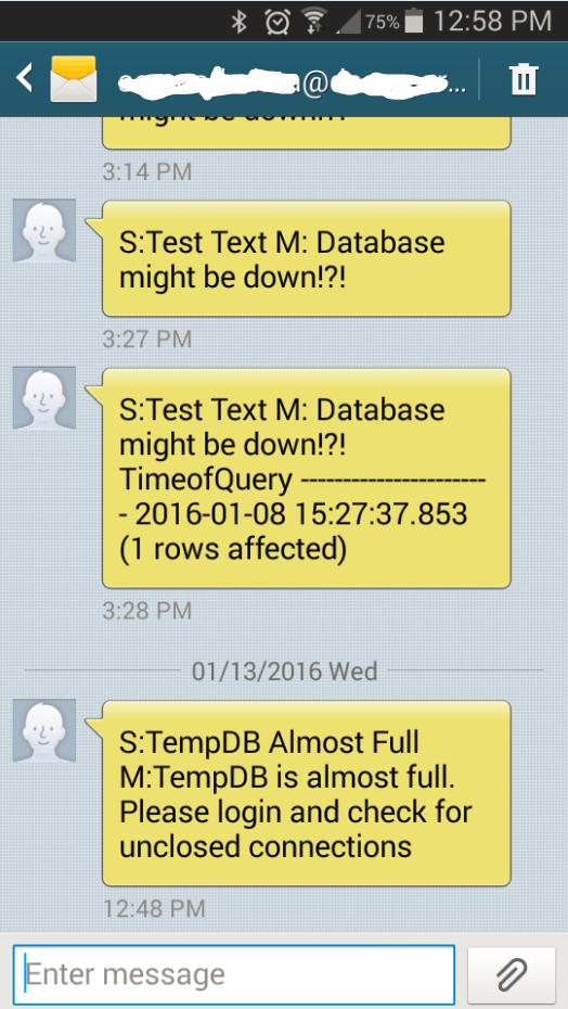 20160113 Text alert